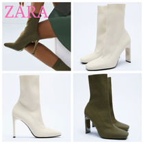 ZARA【NEW】FABRIC HIGH HEEL ANKLE BOOTS WITH STRETCH