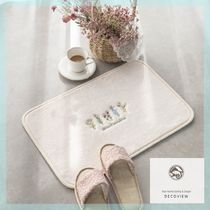 DECO VIEW【送料込】人気☆French flower embroidered foot mat