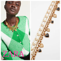 ZARA【NEW】NECKLACE WITH HEART CHARMS