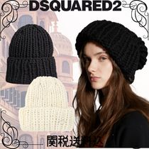 D SQUARED2(ディースクエアード) ニットキャップ・ビーニー 【関税込】Dsquared2☆ Knit Beanie