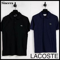 【LACOSTE】taped sleeve ロゴポロシャツ 半袖/2color★送料込★