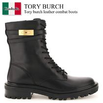 Tory burch leather combat boots