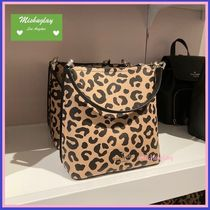 【kate spade】新作♪レオパード柄♪ darcy small bucket ★