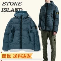 【STONE ISLAND】GARMENT DYED CRINKLE REPS PADDED DOWN JACKET