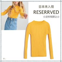 RESERVED(リザーブド) キッズ用トップス 【海外限定】関税込み☆RESERVED  リブ 長袖 ニット 8-11歳用