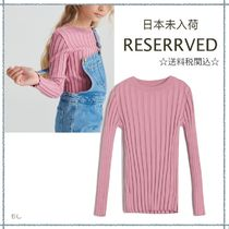 RESERVED(リザーブド) キッズ用トップス 【海外限定】関税込み☆RESERVED リブ 長袖 ニット 9-11歳用