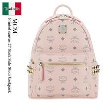 MCM(エム シー エム) バックパック・リュック Mcm Printed canvas 27 Stark Side Studs backpack