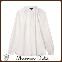 MassimoDutti♪LOOSE-FITTING BLOUSE WITH GATHERED DETAILING