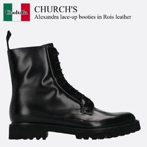 Church's(チャーチ) ショートブーツ・ブーティ Church'S Alexandra lace-up booties in Rois leather