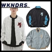WKNDRS ☆ STRIPED PLAYER JACKET (全3Color)