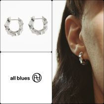 """【All Blues】シルバー Medium thick almost ピアス """"関税込み"""""""