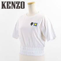 KENZO ケンゾー EMBROIDERED CROPPED T-SHIRT