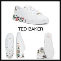 【TED BAKER】HAYIDES WOMENS TRAINERS 花柄 ロゴ スニーカー 白