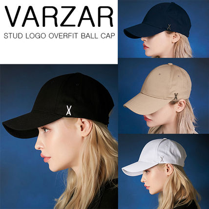★VARZAR★ Stud logo over fit ball cap(4COLORS)TWICE 着用