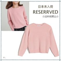 RESERVED(リザーブド) キッズ用トップス 【海外限定】関税込み☆RESERVED  リブ ニット トップ 5-13歳用