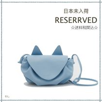 RESERVED(リザーブド) 子供用ショルダー・ポシェット・ボディバッグ 【海外限定】関税込み☆RESERVED キッズ キャット ポシェット