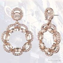 Givenchy*RoseGold and Silk Crystal Drop Earring【国内発送】