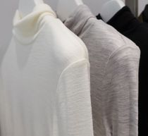 """""""COS"""" FINE ROLL-NECK WOOL TOP WHITE"""