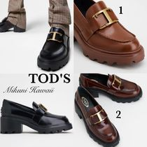 『TOD'S 』トッズ レザー Tタイムレス ロゴ  ローファー