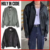 HOLY IN CODE(ホーリーインコード)★ Newtro Leather Jacket