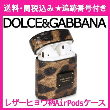 【DOLCE&GABBANA】クール☆Leather Leopard Print AirPods Case