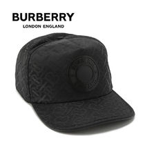 BURBERRY モノグラム ナイロン キャップ 8041633-A1189 BLACK