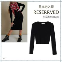 RESERVED(リザーブド) キッズ用トップス 【海外限定】関税込み☆RESERVED  リブニット トップス 6-13歳用