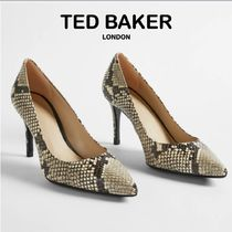 【TED BAKER】テッドベーカー ヘビ柄 85mm パンプス