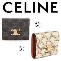 ★CELINE★ SMALL TRIOMPHE WALLET IN TRIOMPHE CANVAS