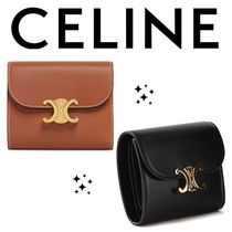 ★CELINE★ SMALL TRIOMPHE WALLET IN SHINY SMOOTH LAMBSKIN