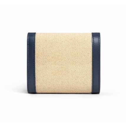 CELINE 折りたたみ財布 ★CELINE★SMALL TRIOMPHE WALLET IN TEXTILE WITH CELINE PRINT(10)