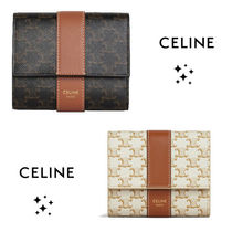 ★CELINE★ SMALL TRIFOLD WALLET IN TRIOMPHE CANVAS