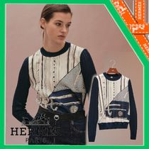 21AW【エルメス】≪Cannes et Cannes≫Pull manches longues