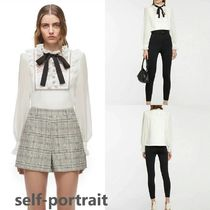 Self Portrait Frill Collar Pussy Bow Top