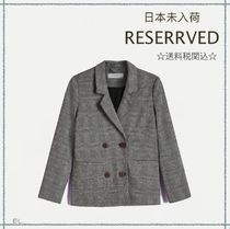 RESERVED(リザーブド) キッズアウター 【海外限定】関税込み☆RESERVED  チェック ブレザー 8歳用
