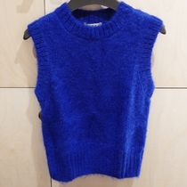 """COS(コス) ベスト・ジレ """"COS"""" MOHAIR KNITTED CROPPED VEST COBALTBLUE"""