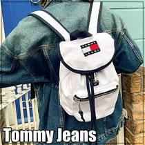 ★Tommy Jeans★heritage ロゴバックパック・ホワイト