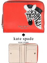【kate spade NEW YORK】【コンパクト】【ロゴ入り革財布】