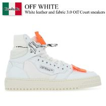 Off White White leather and fabric 3.0 Off Court sneakers