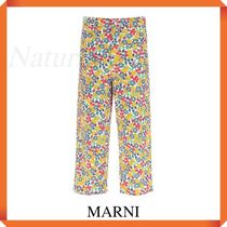 Marni Over Trousers With Pop Garden Print