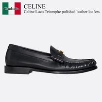 Celine Luco Triomphe polished leather loafers