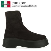 The Row Dark brown suede ankle boots