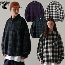 ★PERSTEP★送料込み★韓国★人気 Howling Check Shirt SMLS4450