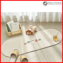 DECO VIEW (デコヴュー) ★ Picnic Embroidered Kitchen Mat
