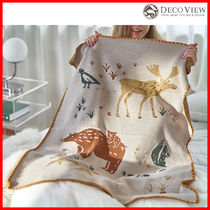 DECO VIEW (デコヴュー)★European Winter Forest Knit Blanket