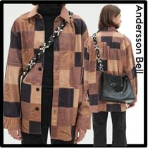 ANDERSSON BELL(アンダースンベル) シャツ ★関税込★ANDERSSON BELL★LEATHER PATCHWORK PRINT SHIR.T★