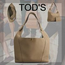 TOD'S直営店◆レザー トッズ T タイムレス バッグ ラージ 人気