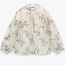 ZARA【NEW】EMBROIDERED ROMANTIC BLOUSE