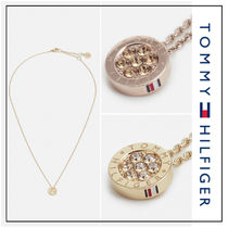 UK発★Tommy Hilfiger 'FAMILY' クリスタルストーン ネックレス