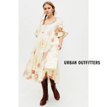 Urban Outfitters(アーバンアウトフィッターズ) ワンピース 【Urban Outfitters】Total Eclipse プリント ミディ丈ワンピ